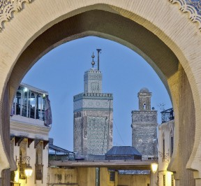 bab boujloud in fez, morocco, fes