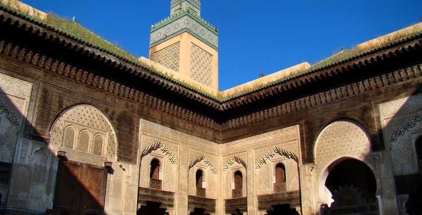Medersa Bou Inania in fes medina minaret mosque