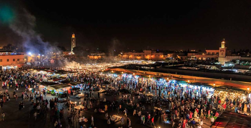 The red city of Morocco Marrakech