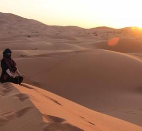 erg chebbi dunes in merzouga desert