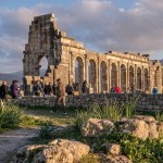 the roman ruins of volubilis near meknes city