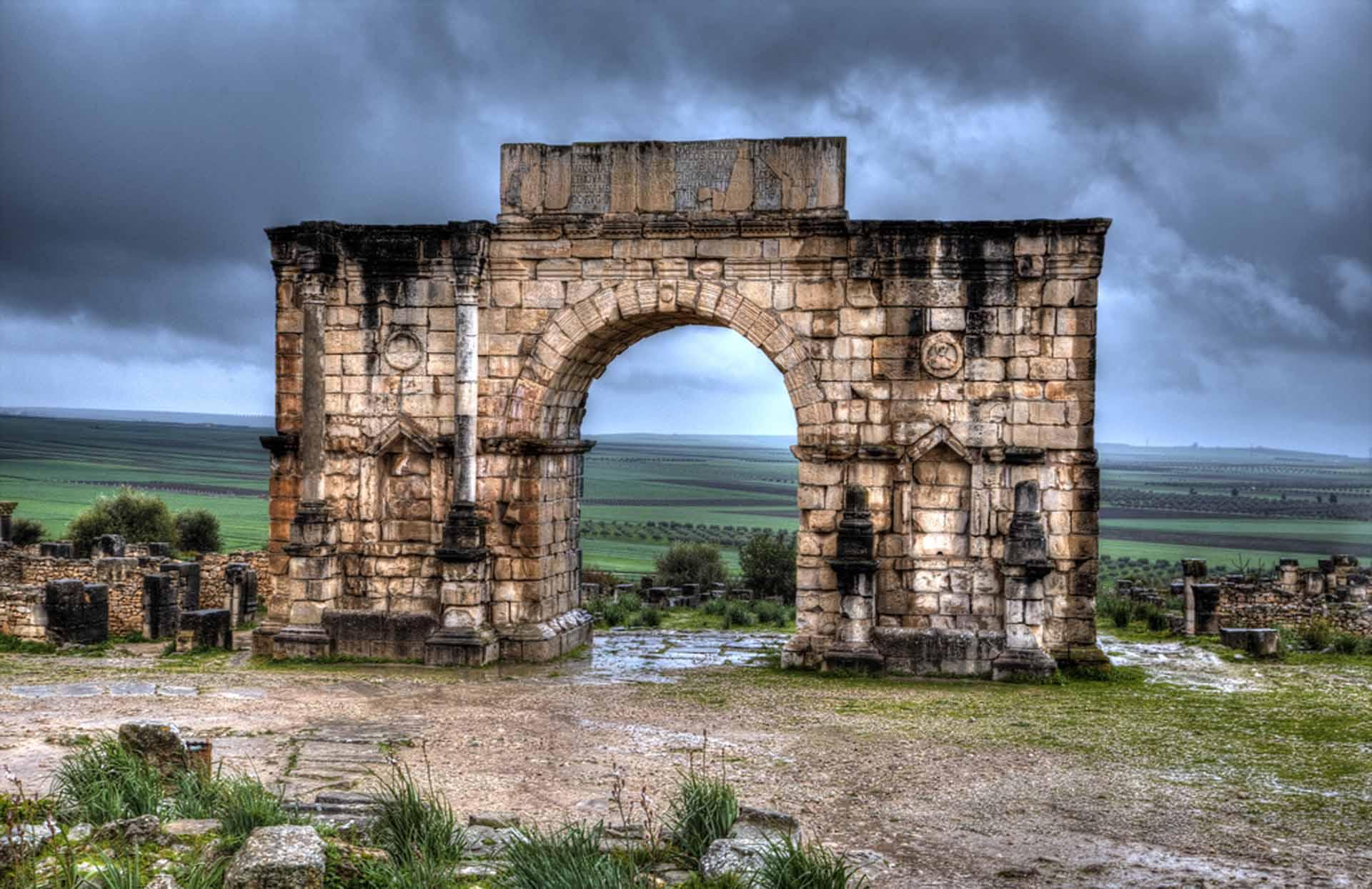 Triumphal arch, Volubilis, Meknes city