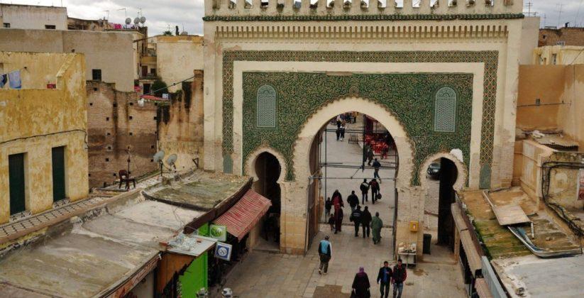 Bab boujloud ( boujloud gate ) the door of fes city