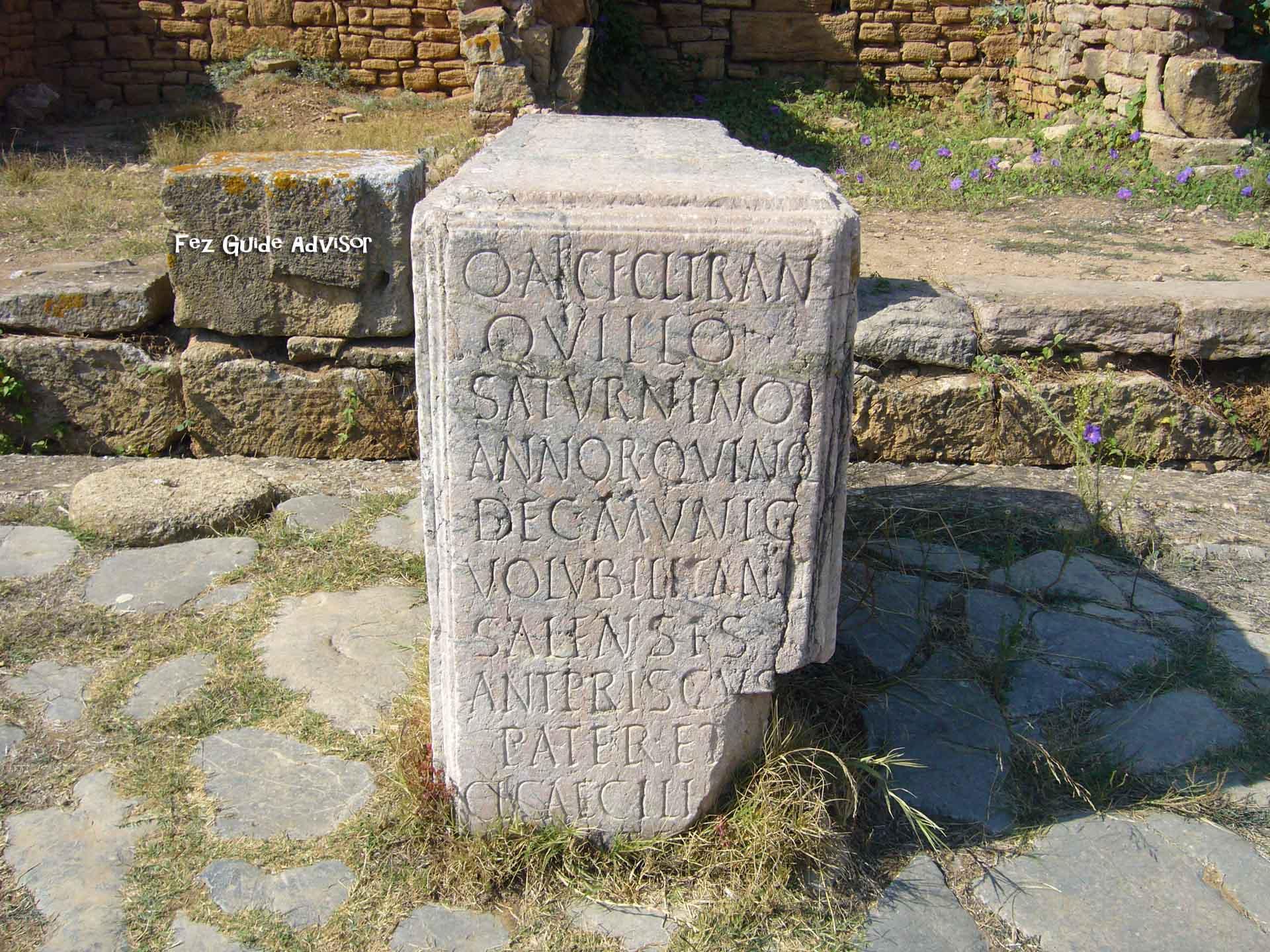 Roman carved stone Chellah