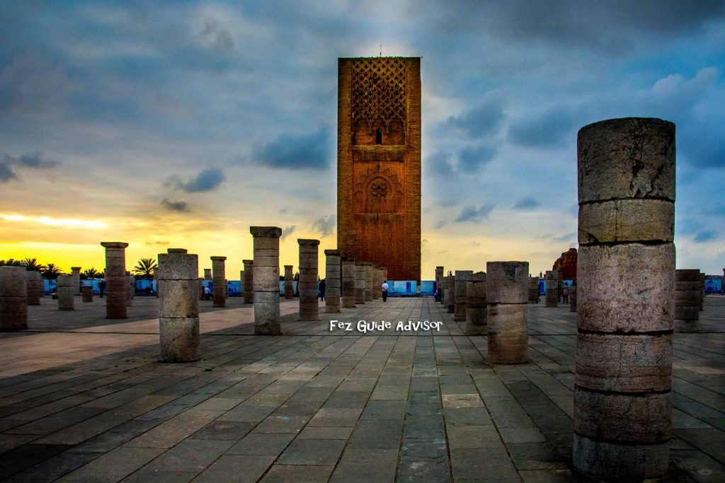 hassan tower, excursion to rabat city