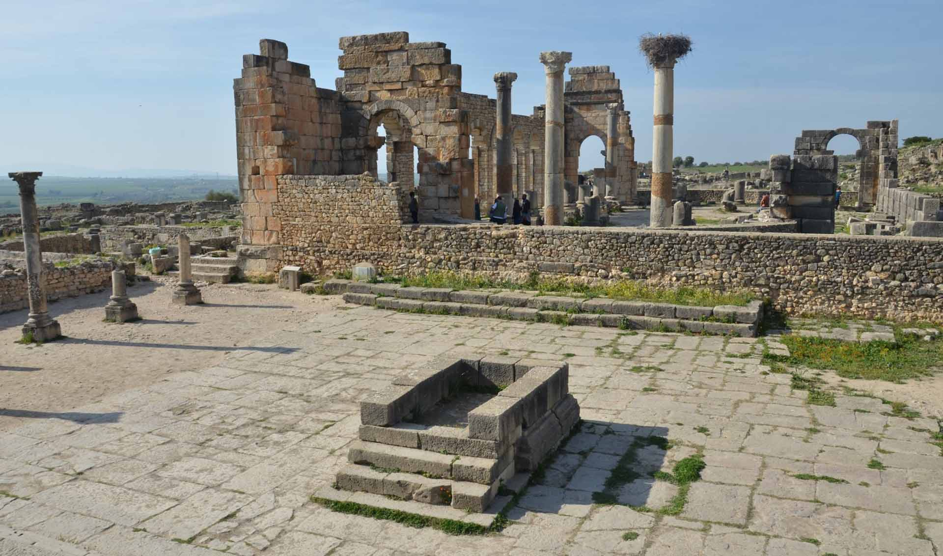 The ruins at Volubilis