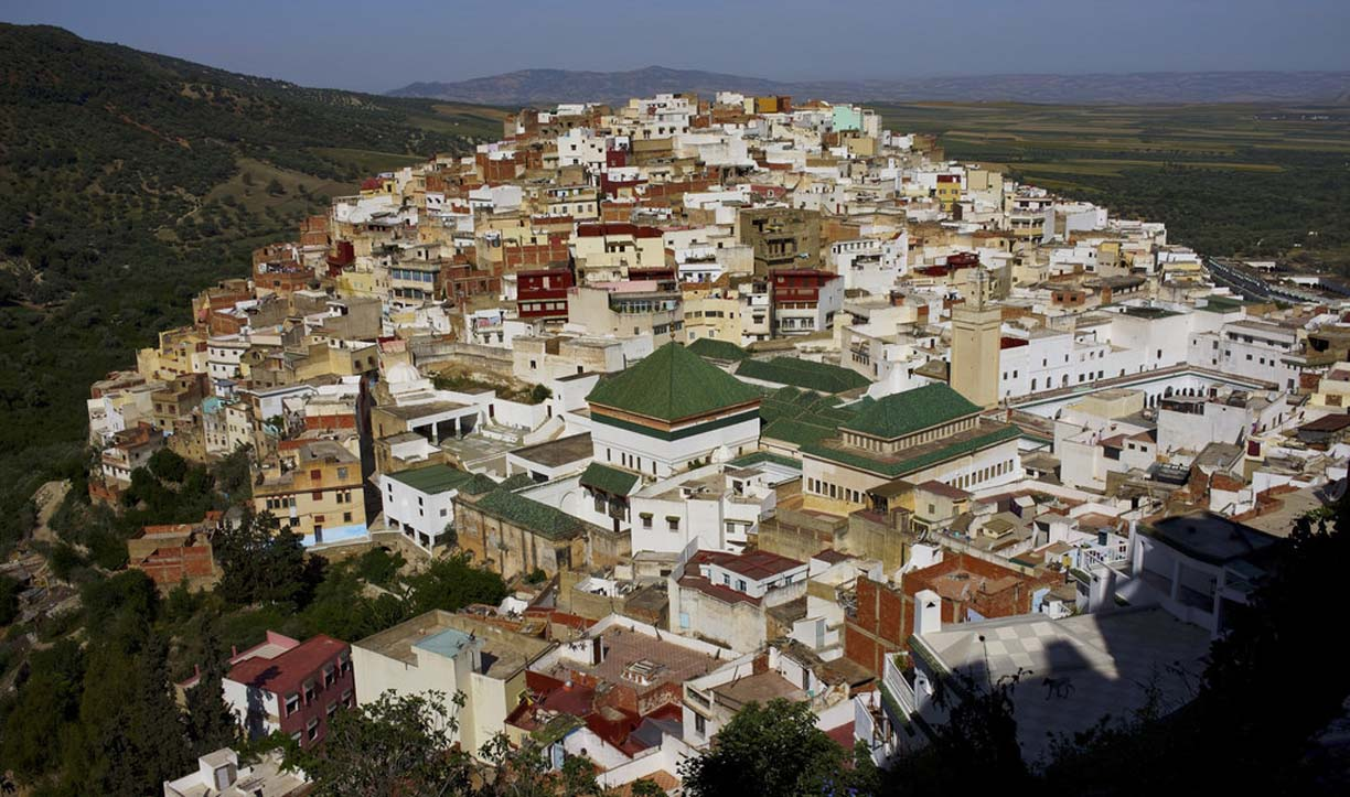 The holy city of moulay idriss zerhoun